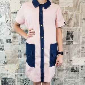 Vintage 1960s / 1970s pink work day dress.